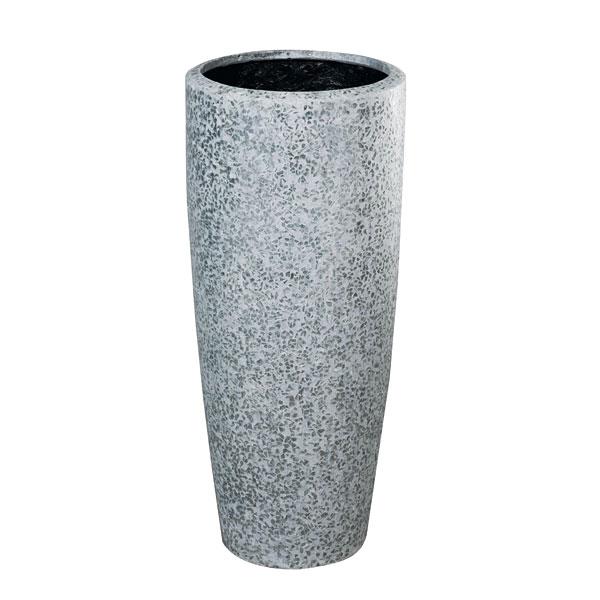 ファイバーグラス鉢カバー:ブライトラウンドハイタイプBR34-8029グレー(8号鉢用)