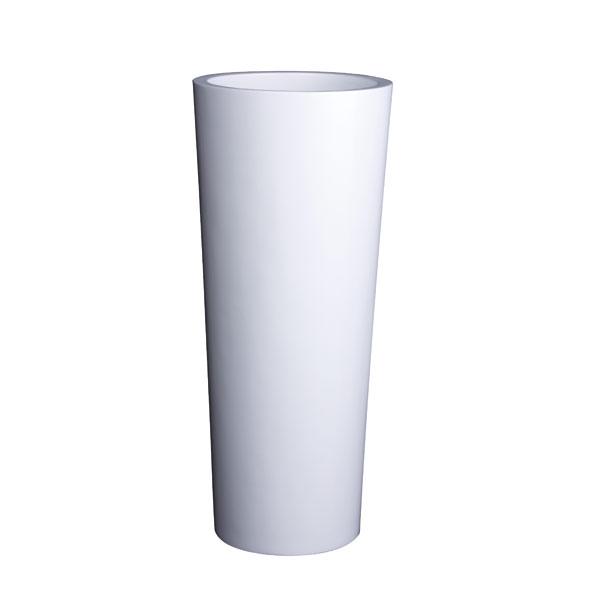 ファイバーグラス鉢カバー:コラム8号鉢ホワイト(8号鉢用)