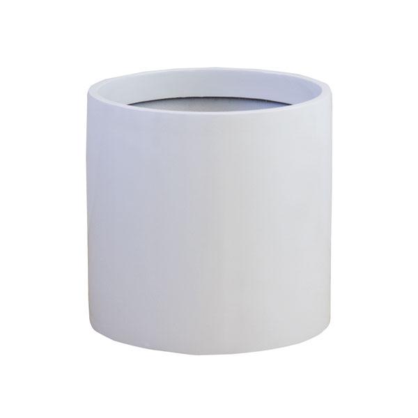 ファイバーグラス鉢カバー:リングポットR型ホワイト(8~10号鉢用)
