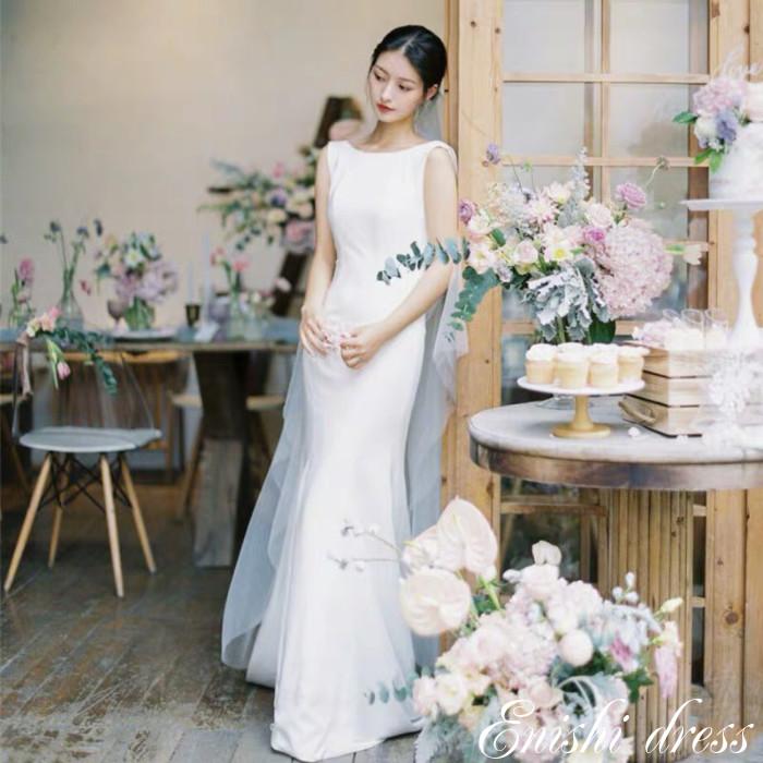 ウェディングドレス マーメイドライン 二次会 花嫁 ドレス 前撮り 後撮り フォトウェディング 結婚式 披露宴 パーティー かわいい エレガント 豪華 ハンドメイド