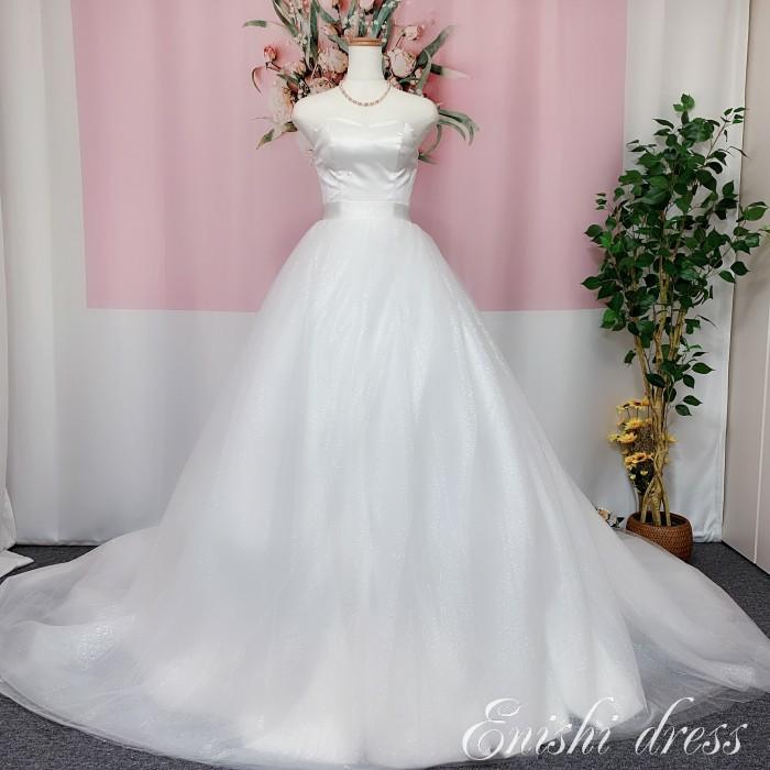 オーバースカート キラキラのラメ入り素材 ウェディングドレスの色直し ホワイト アクセサリー 色変更無料 ロングトレーン ボリューム エレガント 結婚式 披露宴 二次会 前撮り パーティー 花嫁 かわいい 豪華 色変更 サイズオーダー 無料