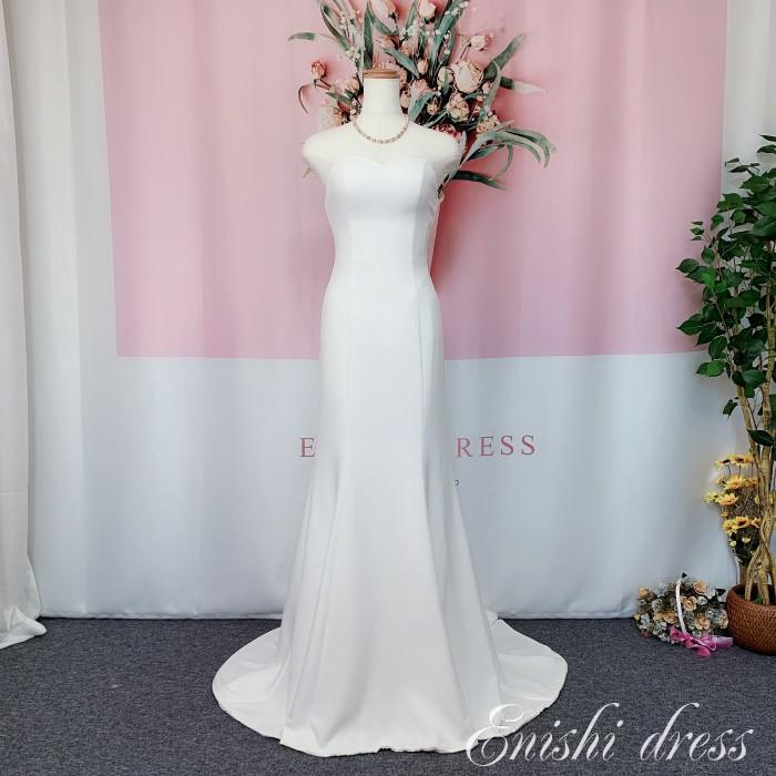 ウェディングドレス マーメイドライン 軽い 柔らか かわいい 上品 豪華 エレガント 優雅 着痩せ インスタ映え 結婚式 披露宴 二次会 前撮り パーティー