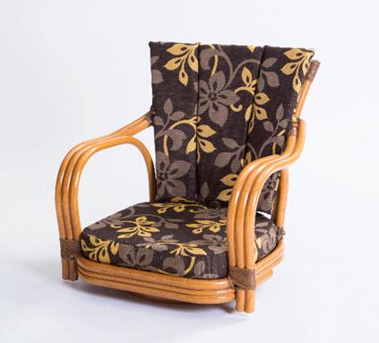 【送料無料】ラタン回転椅子 ロータイプ GNM17L