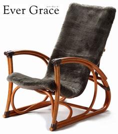 【メーカー直送のため代引き不可】【送料無料】Ever Grace パーソナルチェア オットマン付 EGP02  リクライニングチェア 籐