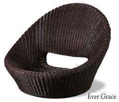 【メーカー直送のため代引き不可】【送料無料】Ever Grace ウィッカー編み座椅子 EGZ01 パーソナルチェア 籐