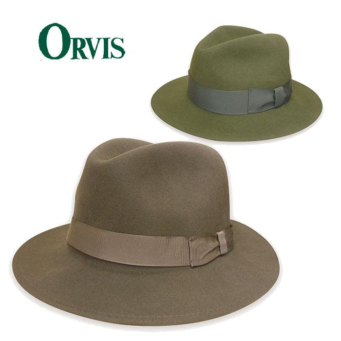 【大好評P10倍】【送料無料】【ORVIS オービス】ライトフェルトハット ※ORVISロゴ焼印があるのはグリーンのみとなります。折りたたんでも形が崩れにくく鞄へ入れられる