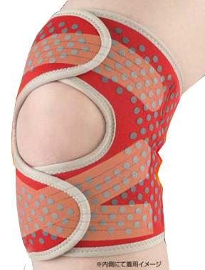 【送料無料】桂式保温テーピング膝サポーター 両足 膝を保温しながらしっかり固定