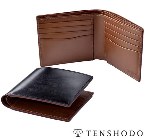 【送料無料】【天賞堂】ブライドルレザー純財布 BREAST WALLET ブラック/ブラウン 紙幣とカードのみを収納する純札入れは小銭入れとのコーディネートも楽しめます