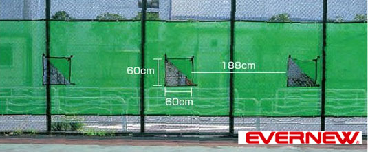【送料無料】【EVERNEW エバニュー】防風ネット窓付 EKE065