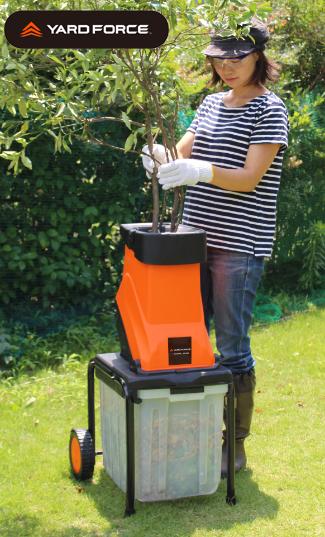 【送料無料】YARD FORCE 枝シュレッダー かさばる枝木を堆肥にしたり、ごみ袋で処分も楽々 粉砕機 園芸 ガーデニング
