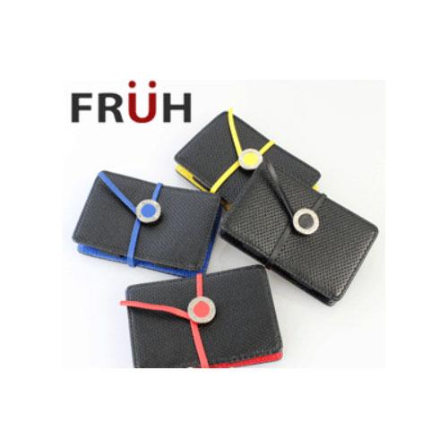 【FRUH フリュー】ステアリングレザーカードケース GL-204 革ひもで閉じるというクラシカルな動作に喜びを感じる