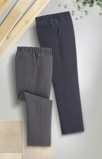 【大好評P10倍】【送料無料】【mij エムアイジェイ】日本製杢調暖か加工パンツ2色組 WA-1018グレー系、ネイビー系 の同サイズ2色組