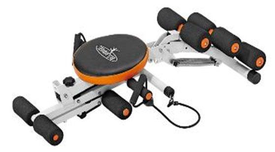 【メーカー直送のため代引決済不可】マルチコンパクトマシン 耐荷重:80kgバネの力で腹筋運動をサポートするエクササイズマシーン【組立式】