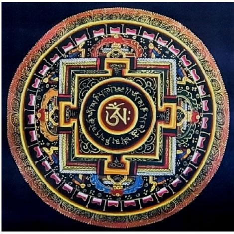【大好評P10倍】【送料無料】宇宙の真理肉筆密教真言曼荼羅画