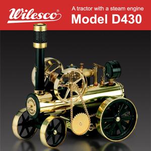 【送料無料】蒸気エンジン付きトラクター「Model D430」