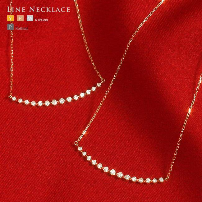 天然SIダイヤモンドラインネックレス 幅が広いラインネックレス なんと!33.0mmもあります。K10,K18,YG,PG,WG,【送料無料】【レディース】【AC】【プレゼント ギフト お祝い ジュエリー 宝石】