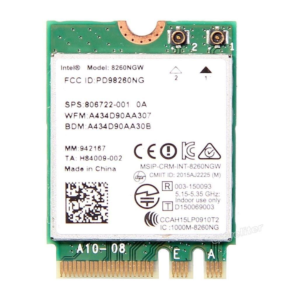 AC-8260 Intel Dual 未使用 Band Wireless-AC 8260 8260NGW M.2 802.11AC Mbps+ N 4.0 無線LANカード お見舞い Bluetooth インテル デュアルバンド 867
