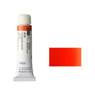発色の良いホルベイン製水彩絵具 最安値に挑戦 まとめ買いもメール便送料かわらず300円 安全 透明水彩絵具2号 5ml ヒュー※モデルチェンジによりパッケージが異なる場合がございます バーミリオン 赤色 W019