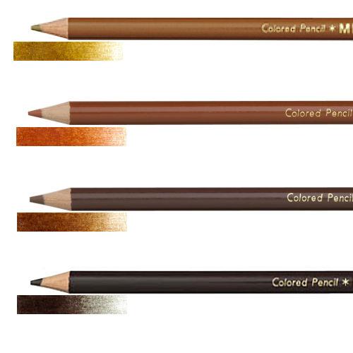 スタンダードで使いやすい色鉛筆 アウトレット 三菱 色鉛筆 880 単色 ちゃいろ 茶色系つちいろ 安い 激安 プチプラ 高品質 あかちゃいろ こげちゃいろ