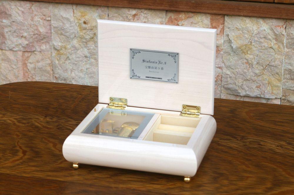 【ケースのみ】30弁オルゴール用 ホワイトメイプルケース