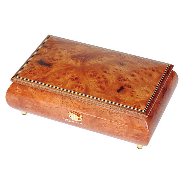 【ケースのみ】50弁用 突板仕上げボックス(ブラウン)