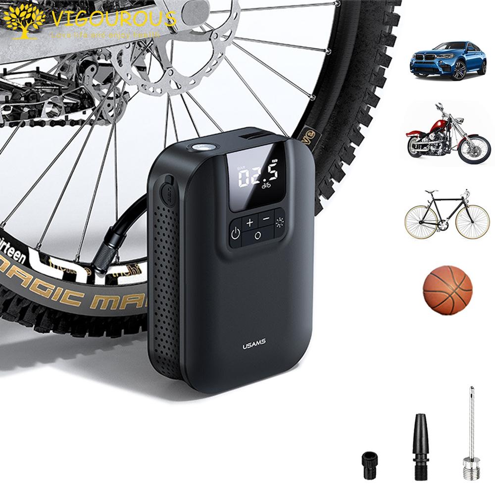電動エアーポンプ 日本最大級の品揃え エアーコンプレッサー タイヤエアーポンプ 自動車タイヤエアーポンプ 自転車空気入れ タイヤ空気入れ USB充電式 5000mAh大容量バッテリー 300円クーポン ポイント2倍 5000mAhバッテリー クロスバイク対応 空気圧指定可能 仏式バルブ対応 バイク 浮き輪 中古 小型携帯便利 ロードバイク 車 LCDデジタル表示 ボール 自動停止LED懐中ライト