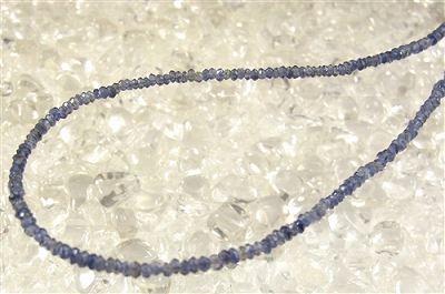 アイオライト(4A) ボタンカット ネックレス