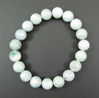 糸魚川翡翠 青緑 10mm玉ブレスレット 証明書付