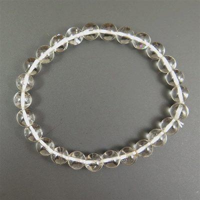 ハーキマーダイヤモンド 7.5mm玉 ブレスレット (AAA+グレード) (AAA+グレード) (AAA+グレード) d77