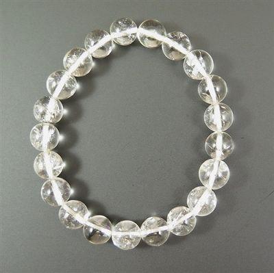 ハーキマーダイヤモンド 9.5mm玉 ブレスレット (AAA+グレード)