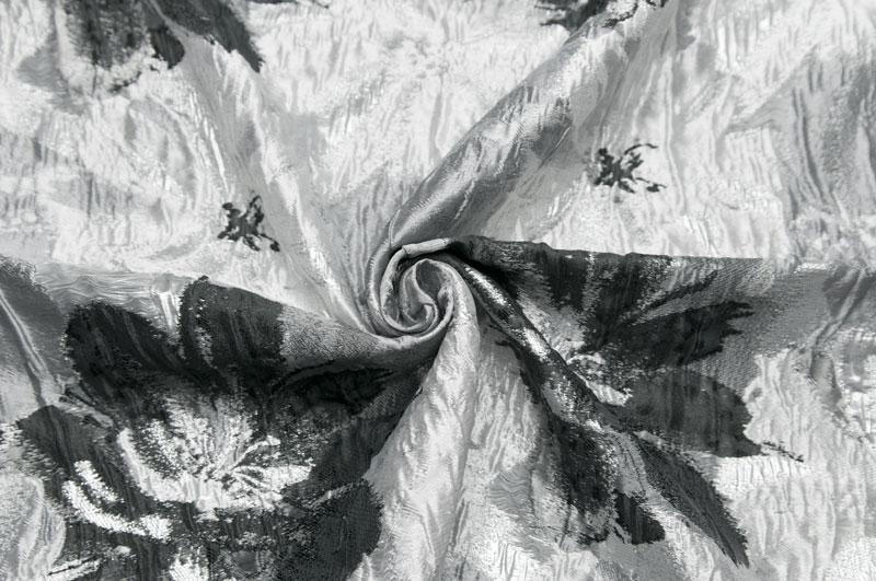 イタリア製シルク・ブレンドフクレ・フラワージャケット着分1.9m単位 生地・布