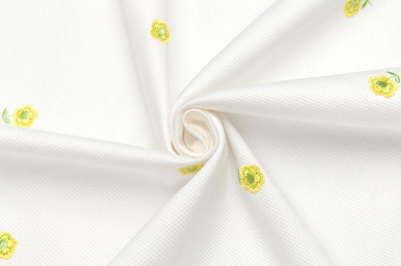 イタリア製【CARNET/カルネ】ストレッチ・コットンアートピケエンブロイダリーxアップリケジャケット着分1.5m単位 生地・布
