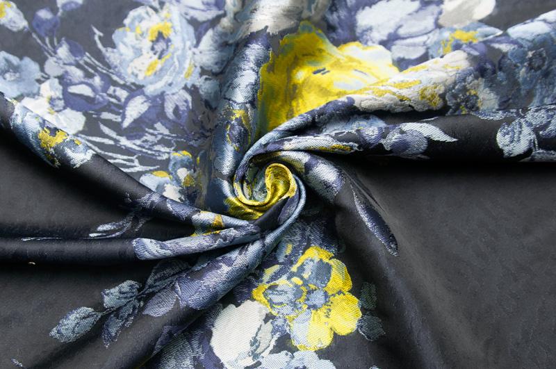 イタリア製【CANEPA/カネパ】シンセ素材ジャカード・フラワージャケット着分1パネル1.55m単位 生地・布