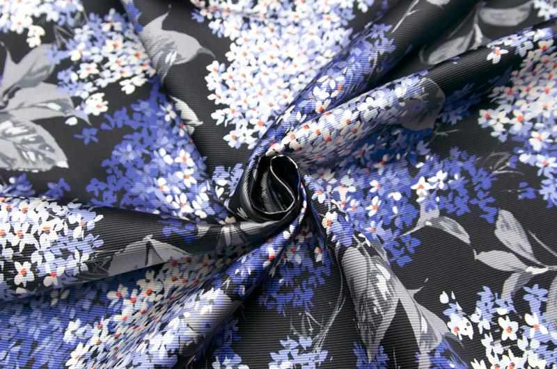 イタリア製【RATTI/ラッティ】ピュアシルク・グログランフラワー・プリントジャケット着分1.6m単位 生地・布