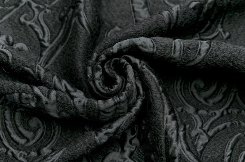 イタリア製 輸入生地【F LIMITED EDITION/アルベルタ・フェレッティ リミテッド・エディション】モヘア・ブレンドアラベスク・フクレ1パネル1.35m単位 生地・布