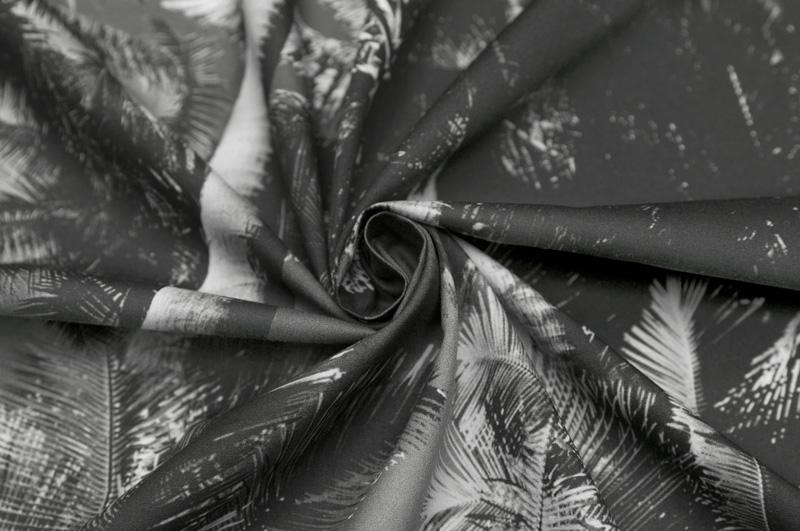 イタリア製【M.A.R】ピュアコットン・ブロードパームツリー・プリント1.8m単位 生地・布