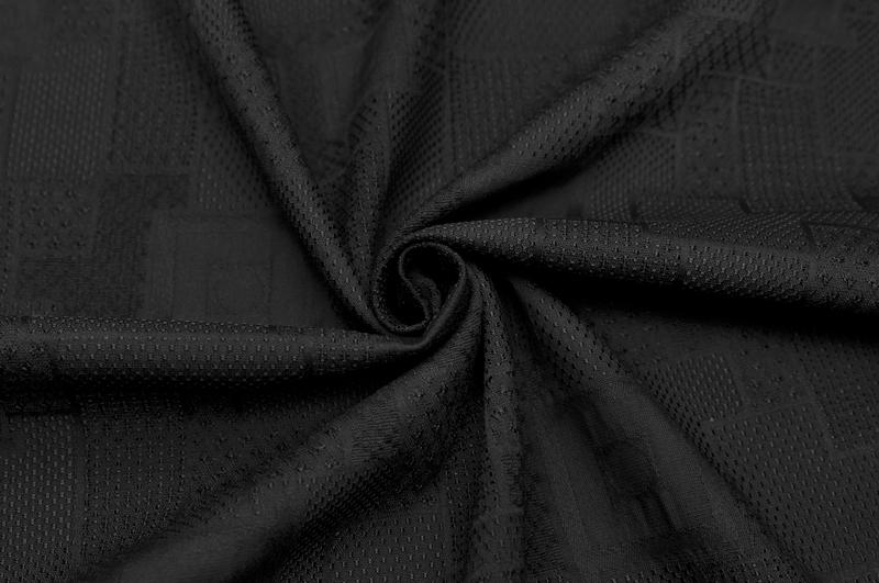 イタリア製【VERS】ピュア・コットンジャカード・スクエアxドット1.8m単位 生地・布