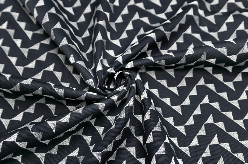 イタリア製【G.A.社】コットン・ヴィスコースグログランジグザグ刺繍2.0m単位 生地・布