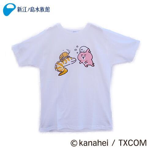カナヘイの小動物 ピスケ&うさぎ ウツボTシャツS