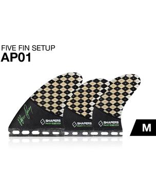 SHAPERSサーフボード用フィン AP01 FUTUREボックス用TRI-QUAD5フィンセット