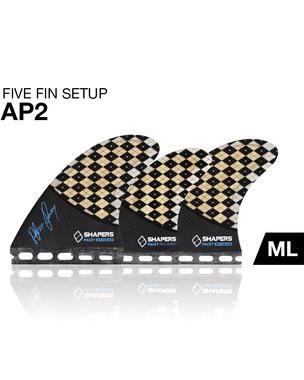 SHAPERSサーフボード用フィン AP02 FUTUREボックス用TRI-QUAD5フィンセット