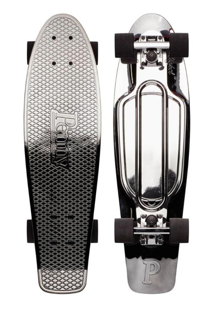 PENNY skateboard(ペニースケートボード)27inchモデル METALIC FADE GUNMETAL BLACKグラフィック