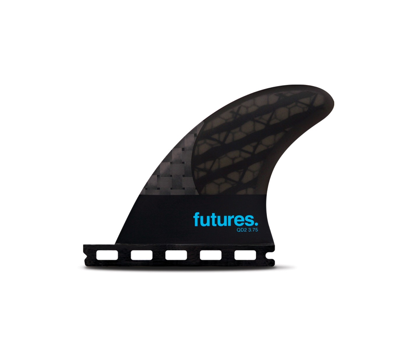 FUTURE(フューチャー)サーフボード用フィン・QUAD REAR QD2-3.75 BLACK STIX3.0