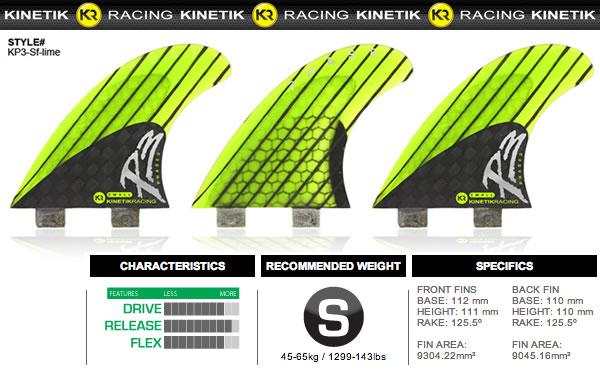 サーフボード用フィン・KINETIC RACING・PHASE3_S【在庫処分特価】