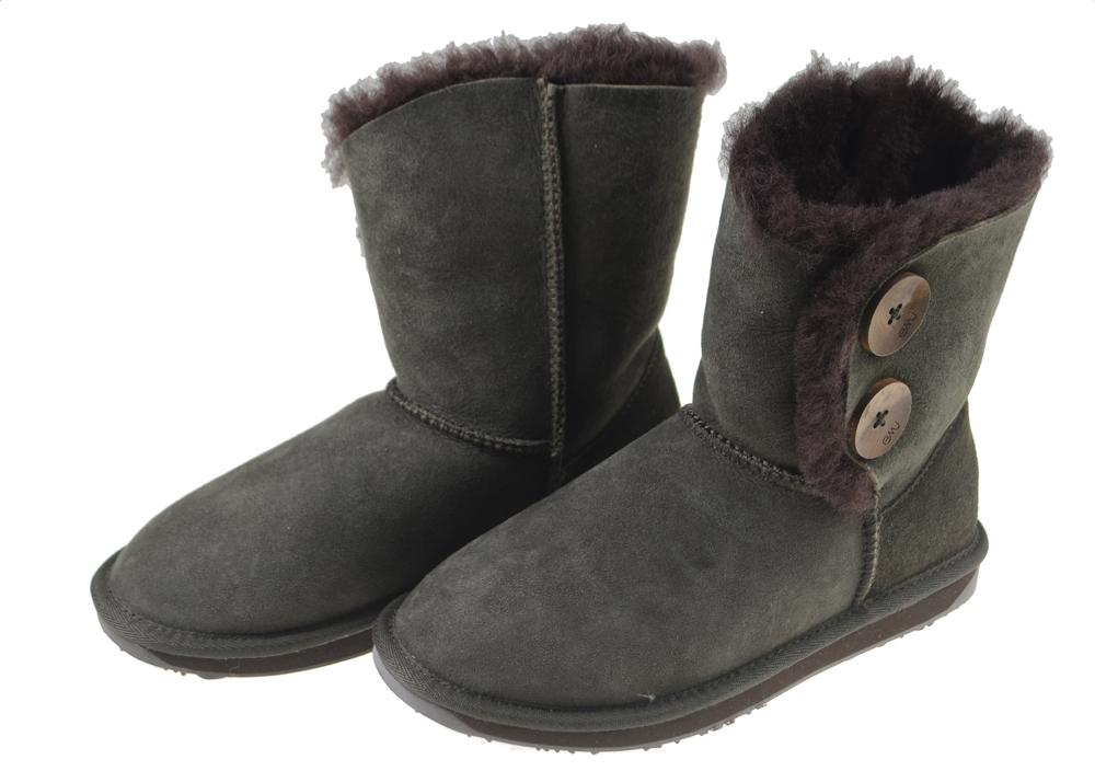 日本正規品 emu(エミュー)シープスキンブーツ VALERY LOムートンブーツ【W10541】チョコレート 22cmサイズ