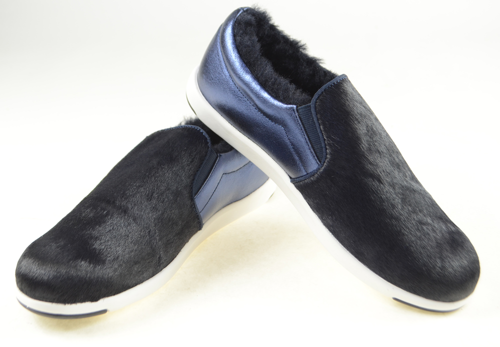 日本正規品 emu(エミュー)シープスキンブーツ BRUNSWICK FUR METALLIC【W11697】ミッドナイト