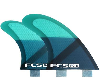 FCSフィン PC-5 トライクアッド(5)フィンセット