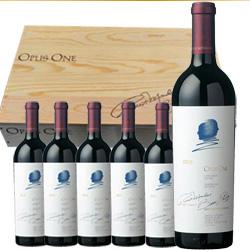 ワイン 赤ワイン オーパス・ワン オリジナル木箱入り 6本まとめ買い / オーパス・ワンワイナリー アメリカ カリフォルニア ナパ・ヴァレー/ [750ml x 6年