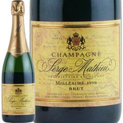 ワイン スパークリングワイン 泡 シャンパン 1999年 セルジュ・マチュー ブリュット・ミレジム / セルジュ・マチュー フランス シャンパーニュ 750ml