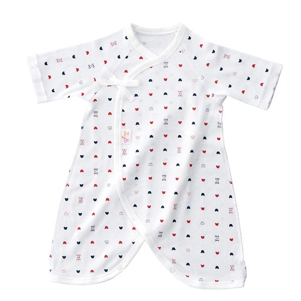 こだわりの日本製~ 赤ちゃんのために 安心安全でかわいい商品を届けたい 季節に合わせて生地を選びましょう 日本製 贈答品 赤ちゃんの城 天竺 コンビ肌着フライス スムース トリコロール 50-60センチ セール特別価格